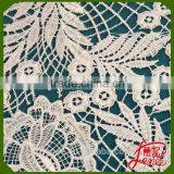 Flower Pattern Cotton Mix Polyester White Chemical lace Embroidery                                                                         Quality Choice