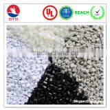 chemical resistant materials PC/PBT alloy resin, Flame retardant reinforced PC compound resina