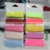 5/8'' fold over elastic FOE retail packing 10 yards per card