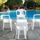 vip plastic stadium folding table and chair