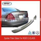 AUTO UNPAINTED REAR TRUNK LIP SPOILER FOR Mercedes Benz W203 C-Class 2001-2007 Sedan
