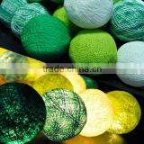Fairy Handmade Green Tone Cotton Balls String Lights For Home Decoration Lighting, Holiday, Party, Wedding, Christmas/Xmas, Gift