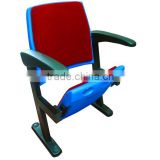 fabric high backrest auditorium seating with writing pad TY-201