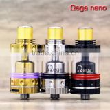 2015 dual coil vape tanks with RBA New design Ohmega nano RTA atomizer best for wholesale made by ADVKEN