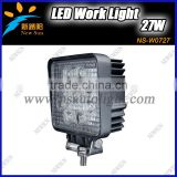 Super Bright 12V Driving Worklight Square for for truck,agricultural,machine,heavy duty,boat,marine 27W LED Work Light