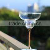 high quality new fashion and unique toasting wine glasses gold crystal stem martini or whisky glass love gift drinking glass cup