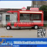 2016 HOT SALES BEST QUALITY unique food trailer saidong beautiful food van commercial snack food carts