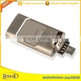 3 In 1 Aluminum promotional usb flash drive 32gb for iphone and Android phones usb otg