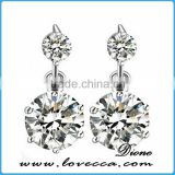 Special women fashion style antique silver zircon hoop earrings jewelry