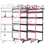 Multifunctional and delicate concrete tray and metal jewelry display rack