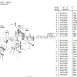 excavator pins,bushings for bucket,boom,in china manufacturer