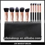 Rose Gold 10pcs Professional Kabuki Contouring Makeup Brush Set with Taklon Synthetic Hair for Face, Cheeks and Eyes