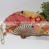 2015 the best selling cheap wave ribs dragon bamboo fan fabric bamboo fan from manufacture