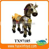 plush horse ride-on, electric battery operated ride on horse toy