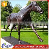 Life size bronze horse statue used for garden decor NTBH-039LI