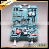 2014 new design multifunction power tool sets 4 in 1 combo kit ( electric drill ,angle grinder,impact wrench, light )