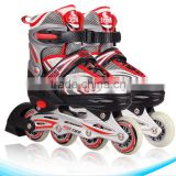 2017 new style high quality PVC wheels adjustable ABEC-7 bearing rollater skes,flashing inline skate