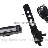 Cheap oem Rechargeable led bicycle decorative Safety Front Back Rear Tail Flashing Light
