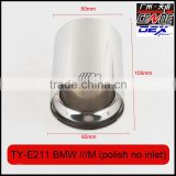 auto modified stainless exhaust tips laser M polish for bmw