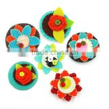 2017 Boutique custom flower vintage Women Non-woven Fabrics Brooch