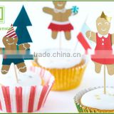 Bakery Cake Paper Decoration Cake Advertising With Flag