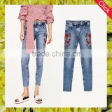 2017 fashion women embroidery sex lady pants denim jeans sex skinny ripped women jeans pants pictures wholesale china