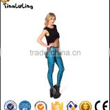 New Design Blue Math Style Print Leggings Slim Fitness Women Gothic Creative Interest Sexy Elastic Casual Pants