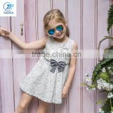 Latest Kids Sleeveless Princess Frock Designs Party Dresses Girls Summer Dress With A Bow
