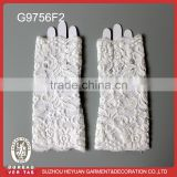 Fashion White Pearl Beads Soft Lace Wedding Fingerless Bridal Gloves party glove