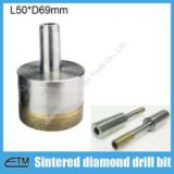 Sintered diamond thin wall hole saw for glass ceramic core drill bit China made abrasive tools