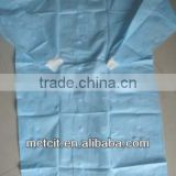 Anti-dust disposable PP lab coat with knitted collar & knitted cuff for chemical industry