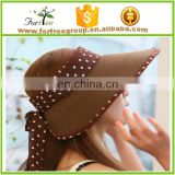 Multi - color fashion beach wide brim spot folding lady flexfit cap hat for choice