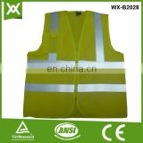 factory polyester fabric mesh /solid knit tape reflective hi vis fluo knit yellow vest