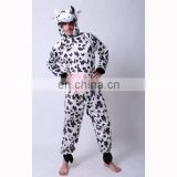 MAB-73 Party Carnival adult animal cow costume jumpsuit, cow costume