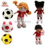 Custom plush football player toys stuffed sports human doll for fans