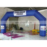 inflatable arch door for event .stitching arch with logo. blue arch