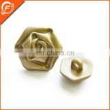 nickle free spraying gold color abs rose flower button for coat