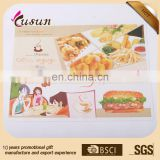 Bottom price high performance promotion custom paper disposable placemats