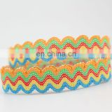 15mm Colorful Ric Rac Elastic Band Best for Baby Clothing
