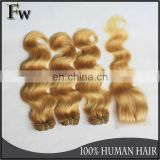High quality brazilian platinum blonde human hair extension braiding weaving