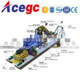 Price of gold/sand bucket chain dredger for sale