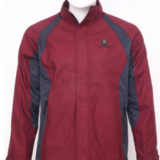 red casual heated jacket