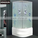 New Design Freestanding Corner Ocean Pattern Acrylic Indoor Portable Shower Room K-7811