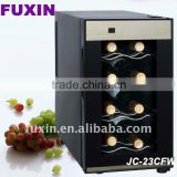 FUXIN:JC-23CFW.Table Top Fridge with 8 bottles / Mini wine chiller /micro cool mini fridge.