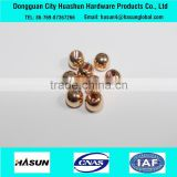 Bead shape precision CNC female thread brass parts brass cap