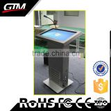 "27"" Multimedia Information Kiosk Totem Display Customized Lift Up Down System Windows All In One Touch Computer Digital Podium"
