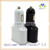 Qualcomm Quick Charger 2.0 Technology & SMART IC car charger , 24W 2 Ports USB Car Charger