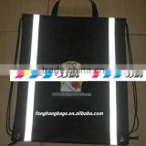 FH Drawstring Bag Reflective Non-woven Bag with Reflective Strip Promotional Bag Gift Bag Tote Bag