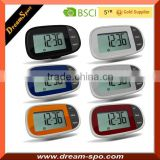 2015 New Design Pedometer Large Logo printing position with Soft Rubber Keypad Calorie Pedometer