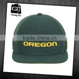 Wholesale customized mesh caps 3d embroidery 6 panel short brim trucker hats